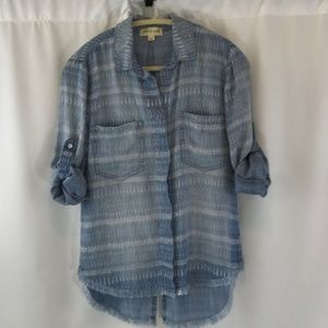 cloth and stone Blue Boyfriend Shirt - XS